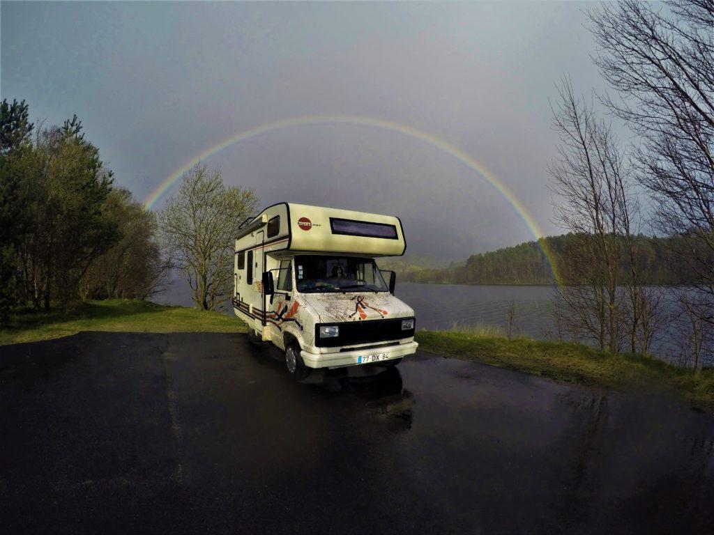 rainbow van camper