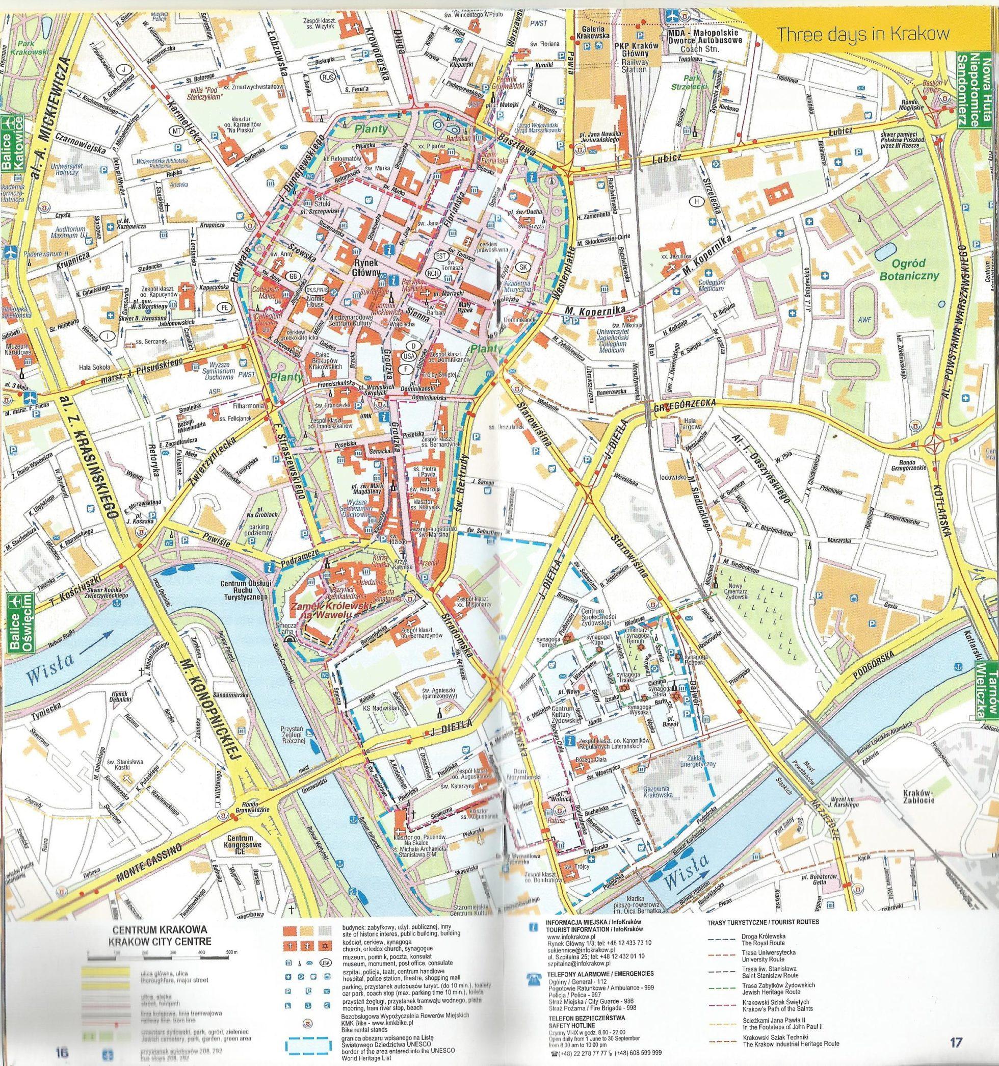 Mapa Cracóvia