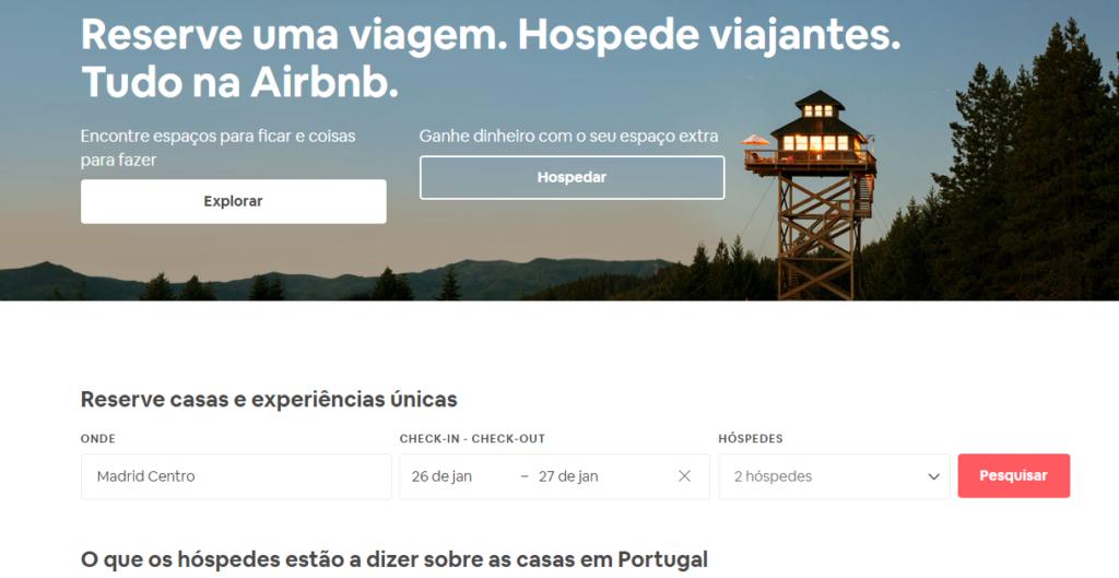 """Ilustração do site """"Airbnb"""""""